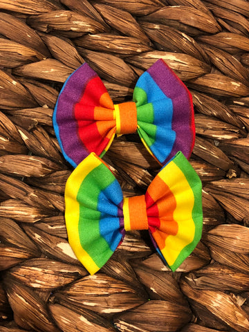 Rainbow Striped Fabric Piggies