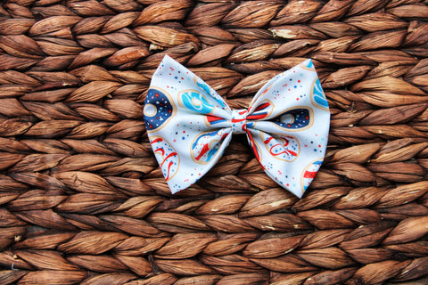 Donut RWB Fabric Bow