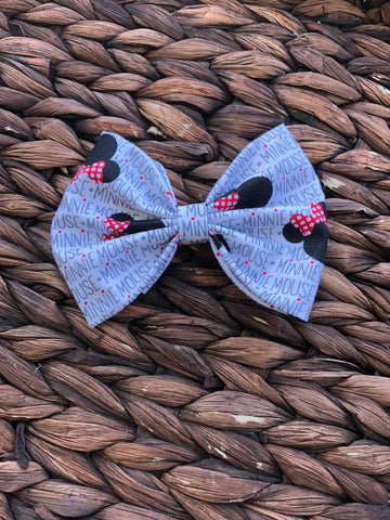 Minnie Mouse Inspired 5 inch Fabric Bow