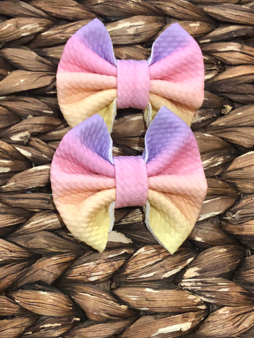 Pastel Striped Rainbow Fabric Piggies