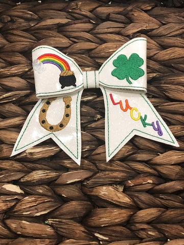 Cute Lucky Bow on Alligator Clip