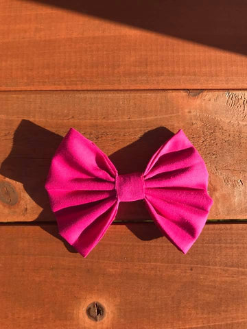 Hot Pink Fabric Bow