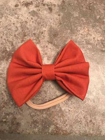 Burnt Orange Fabric Bow