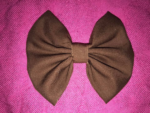 Brown Fabric Bow