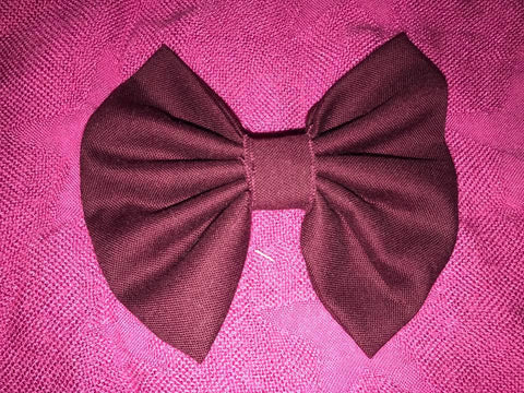Burgundy Fabric Bow