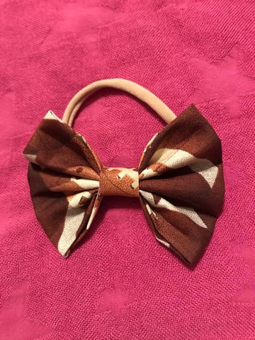 Football Fabric Bow