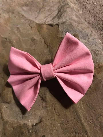 Pink Shimmer Fabric Bow