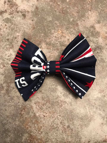 Patriots Sports Team Fabric Bow