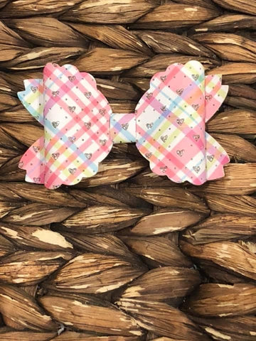 Plaid Marie Faux Bow