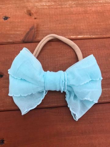 Aqua Mini Messy Bow