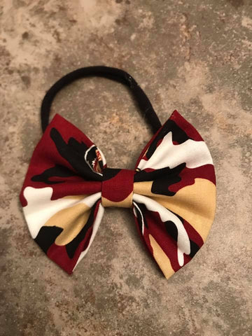 FSU Sports Team Fabric Bow