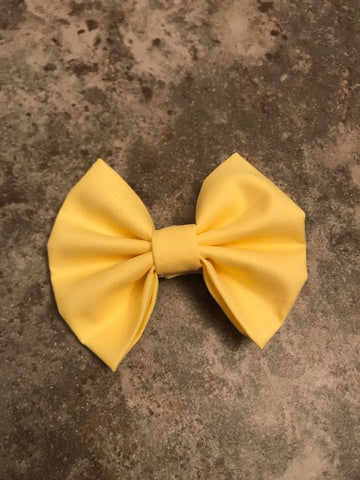 Light Yellow Fabric Bow