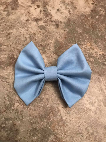 Pale Blue Fabric Bow