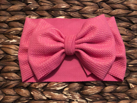 Hot Pink Shimmer Headwrap