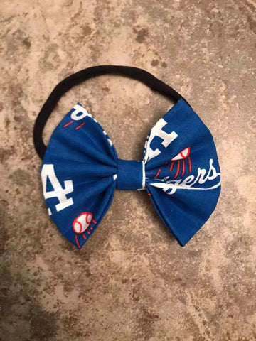 Dodgers Sports Team Fabric Bow