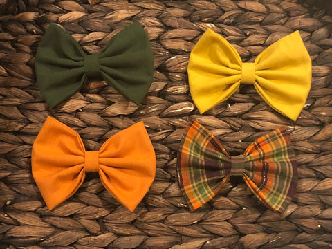 Fall Fabric Bow Bundle