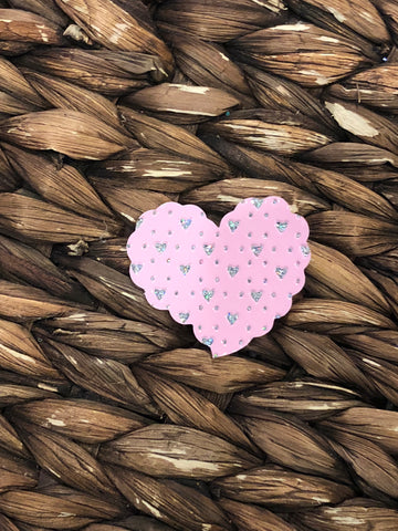 Pink Heart Snap Clip