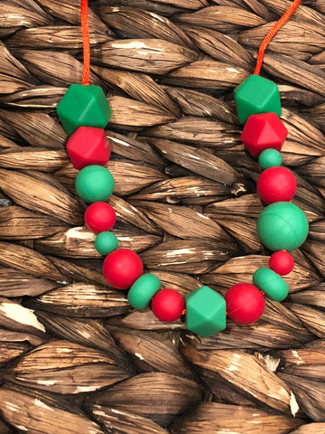 Red/Green Teething Necklace