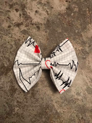 Heart Rhythm Fabric Bow