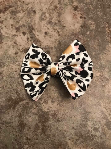Leopard Minnie Inspired Bow