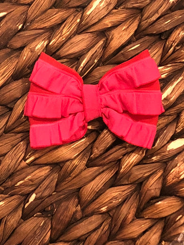 Red/Pink Mini Messy Bow