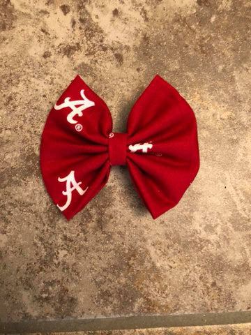 Alabama Sports Team Fabric Bow