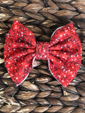 Red Glitter Fabric Big Bow