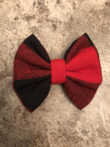 Buffalo Plaid Fabric Bow