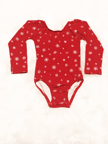 Snowflake Long Sleeve Leotard