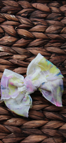 Floral Mini Messy Bow