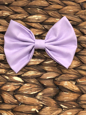 Lavender Fabric Bow