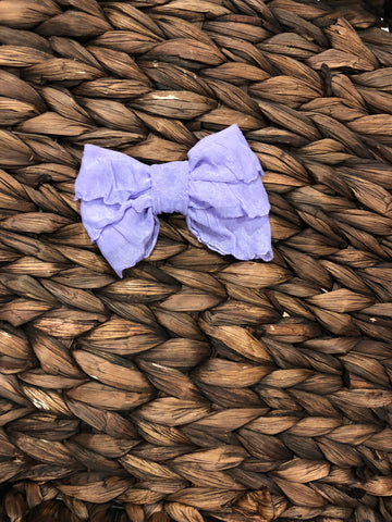Lilac Mini Messy Bow