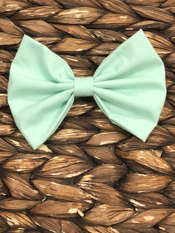 Mint Fabric Bow