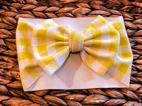 Yellow Plaid Headwrap