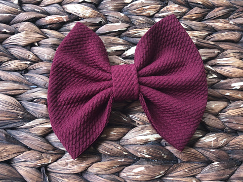Burgundy Big Fabric Bow
