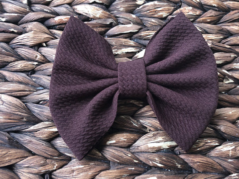 Brown Big Fabric Bow