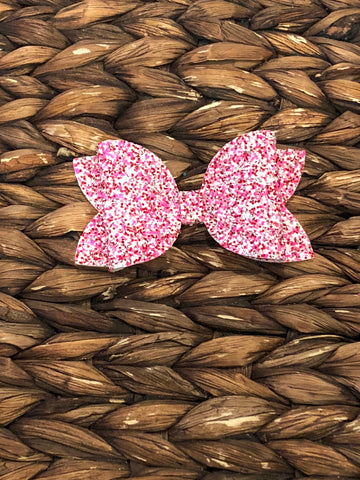 Red/White/Pink Glitter Elizabeth Bow