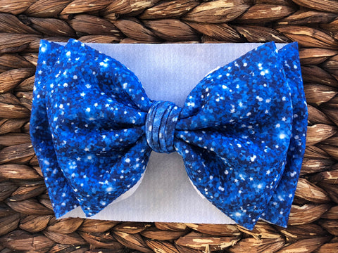 Royal Blue Glitter Headwrap