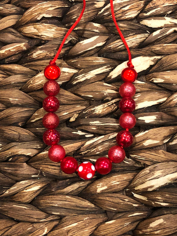 Red Small Bead Necklace