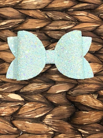 Light Blue Glitter Elizabeth Bow