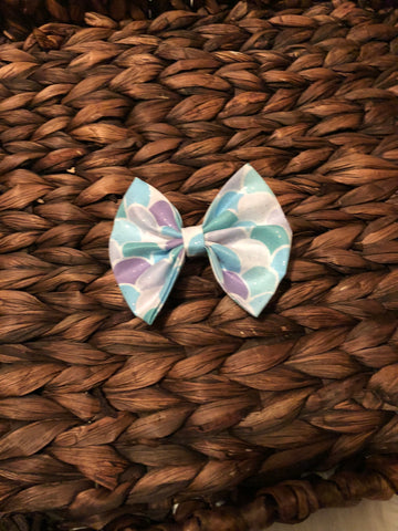 Mermaid Fabric Bow