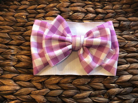 Light Purple Plaid Headwrap