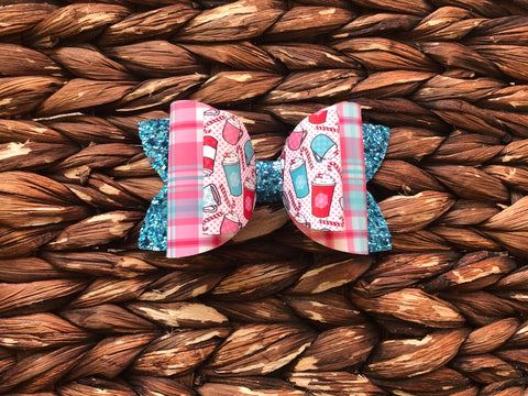 Peppermint Cocoa Stacked Glitter Elizabeth Bow