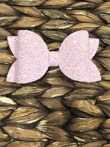 Light Pink Glitter Elizabeth Bow