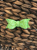 Green Chunky Grass Glitter Bow