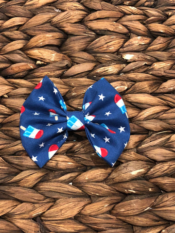 Bomb Pop Fabric Bow