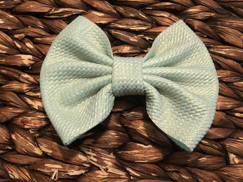 Mint Shimmer Big Fabric Bow