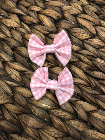 Pink Gingham Fabric Piggies
