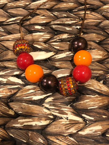 Red/Orange/Brown Chunky Bubblegum Necklace