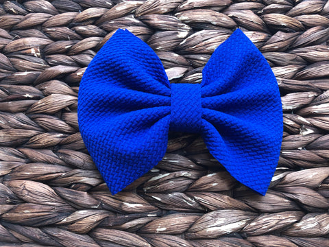 Royal Blue Big Fabric Bow